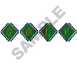 SOUTHWEST GOLF LOGO embroidery design