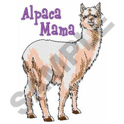 ALPACA MAMA embroidery design