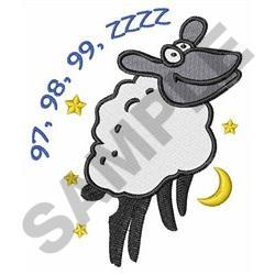 COUNT SHEEP TILL SLEEP embroidery design