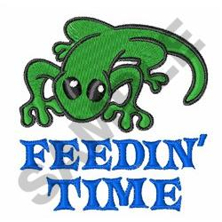 FEEDIN TIME embroidery design