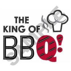 KING OF BBQ embroidery design
