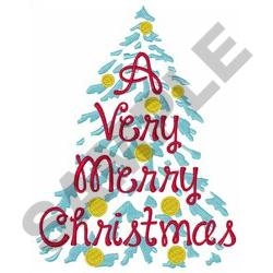 VERY MERRY CHRISTMAS XL embroidery design