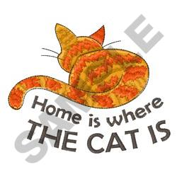 HOME IS WHERE THE CAT IS embroidery design