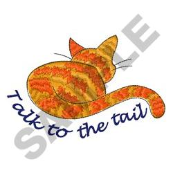 TALK TO THE TAIL embroidery design