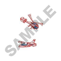 HELICOPTERS embroidery design