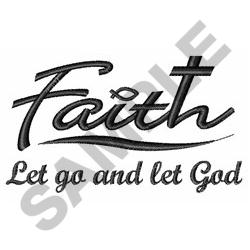 LET GO AND LET GOD embroidery design