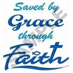 GRACE THROUGH FAITH embroidery design