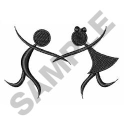 DANCERS embroidery design