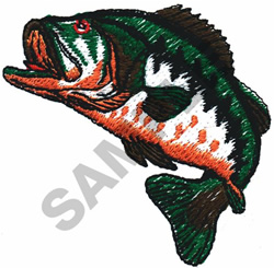 BIG MOUTH BASS embroidery design