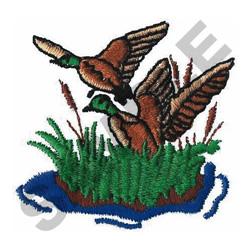 MALLARD DUCK SCENE embroidery design