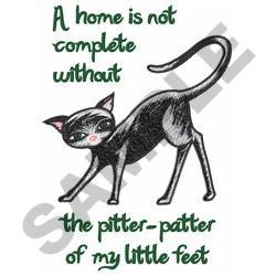LITTLE CAT FEET embroidery design