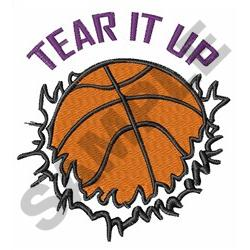 TEAR IT UP BASKETBALL embroidery design