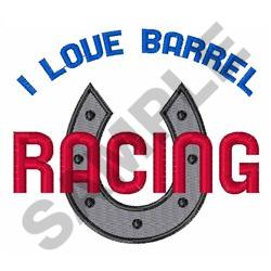 LOVE BARREL RACING embroidery design