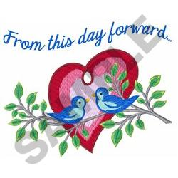 FROM THIS DAY FORWARD embroidery design