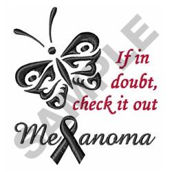 MELANOMA CHECK IT OUT embroidery design