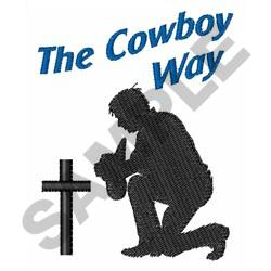 THE COWBOY WAY embroidery design