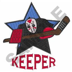 HOCKEY KEEPER embroidery design