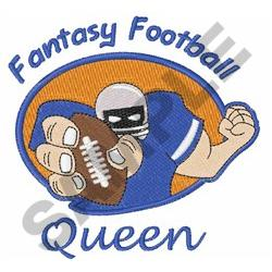 FANTASY FOOTBALL QUEEN embroidery design