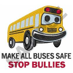 STOP BULLIES embroidery design