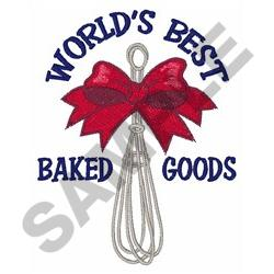 BEST BAKED GOODS embroidery design