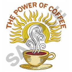 THE POWER OF COFFEE embroidery design