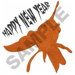 GOLDFISH HAPPY NEW YEAR embroidery design