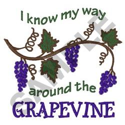 WAY AROUND THE GRAPEVINE embroidery design