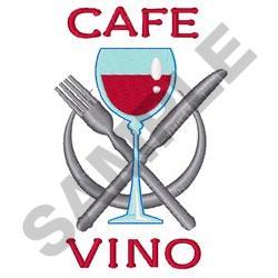CAFE VINO embroidery design