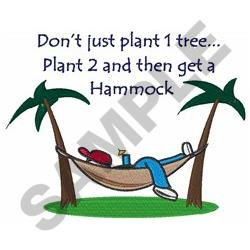 PLANT TWO TREES embroidery design