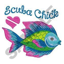SCUBA CHICK embroidery design