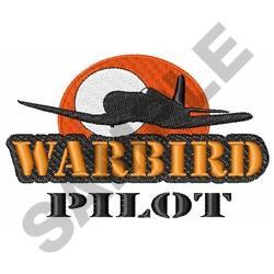 WARBIRD PILOT embroidery design