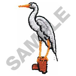 HERON embroidery design