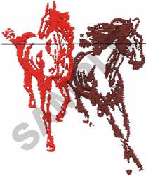 WILD HORSES embroidery design