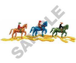 THREE HORSEBACK RIDERS embroidery design