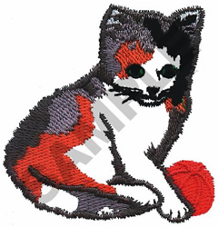 KITTEN WITH BALL embroidery design