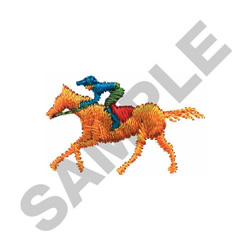 HORSE WITH RIDER embroidery design