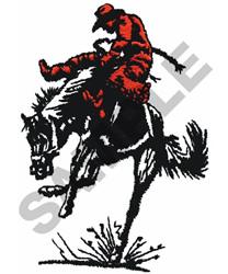 BRONCO RIDER embroidery design
