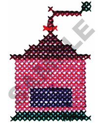 CROSS STITCHED COFFEE GRINDER embroidery design