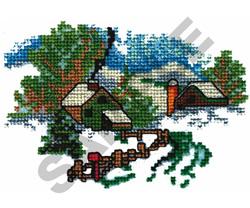 CROSS STITCH FARM SCENE embroidery design