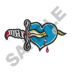 Dagger In Heart embroidery design