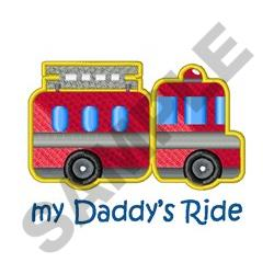 Daddys Ride embroidery design