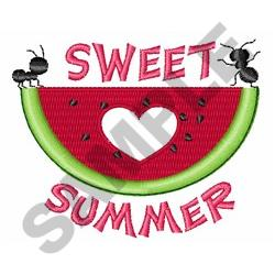 Sweet Summer embroidery design