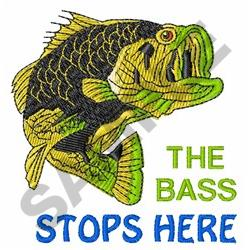 Bass Stops Here embroidery design