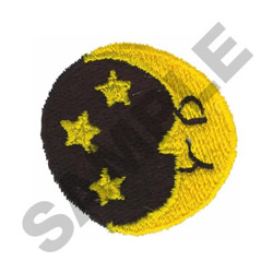 MOON WITH STARS embroidery design