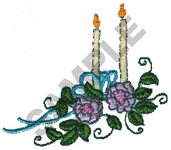 WEDDING CANDLES embroidery design