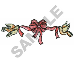 TWO DOVES TYING THE KNOT embroidery design