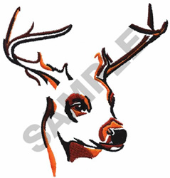 STAGS HEAD embroidery design