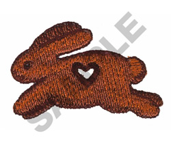 RABBIT WITH WOOD HEART CUTOUT embroidery design