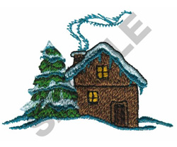 WINTER COTTAGE embroidery design