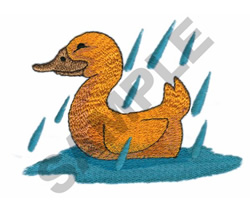 DUCK IN THE RAIN embroidery design